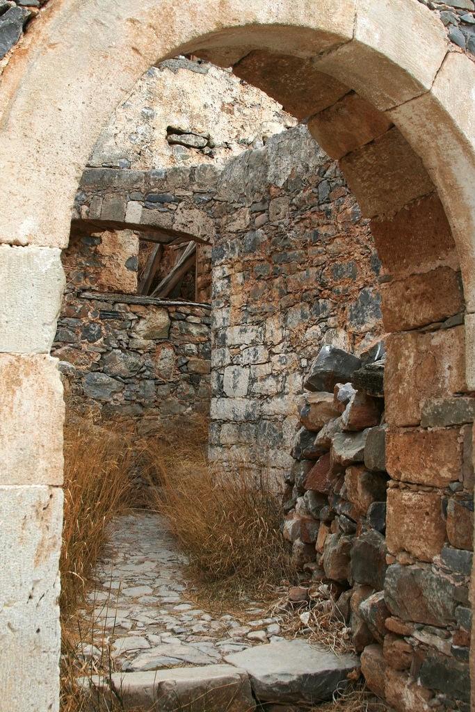 Ruins on the island of Spinalonga