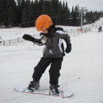 Snowboarding Canon D20 Test Shot