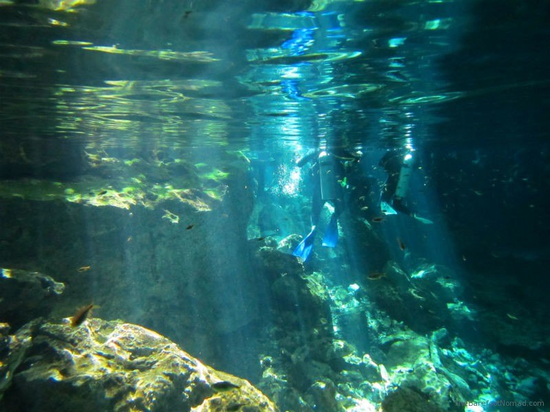 Cenote Dos Ojos Shafts of Light