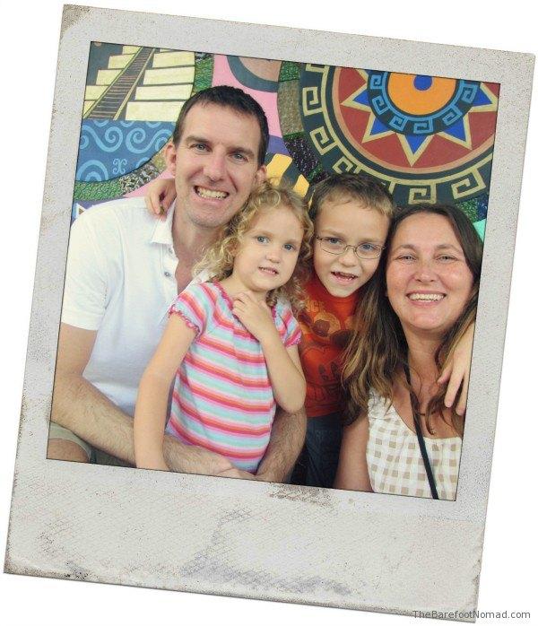 Family Polaroid White Background