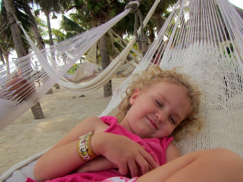 Happy in a Hammock Xcaret
