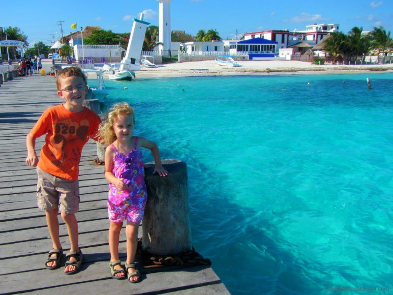 Kids on the Pier at Puerto Morales Mexico