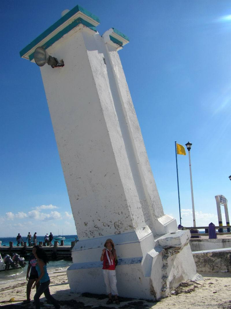 Leaning Lighthouse at Puerto Morales Mexico