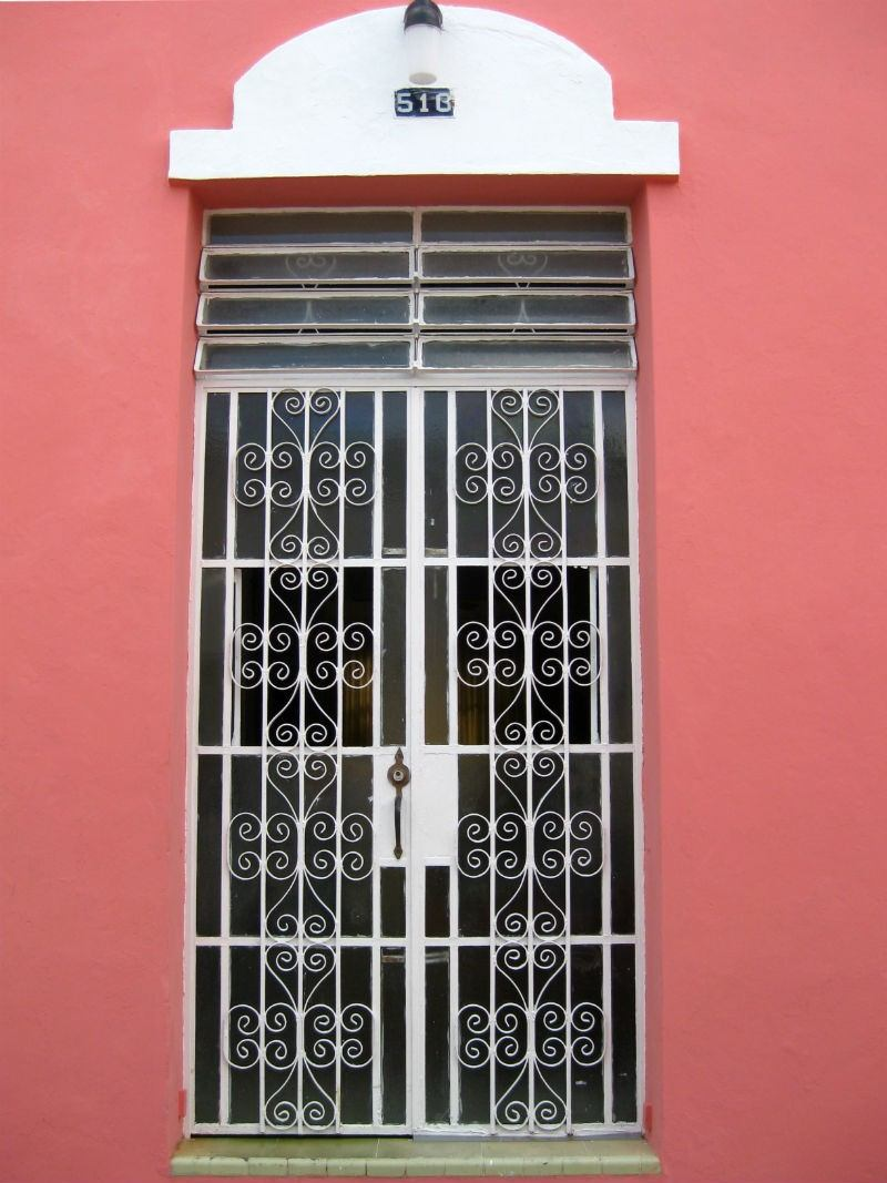 Merida Pink House Door