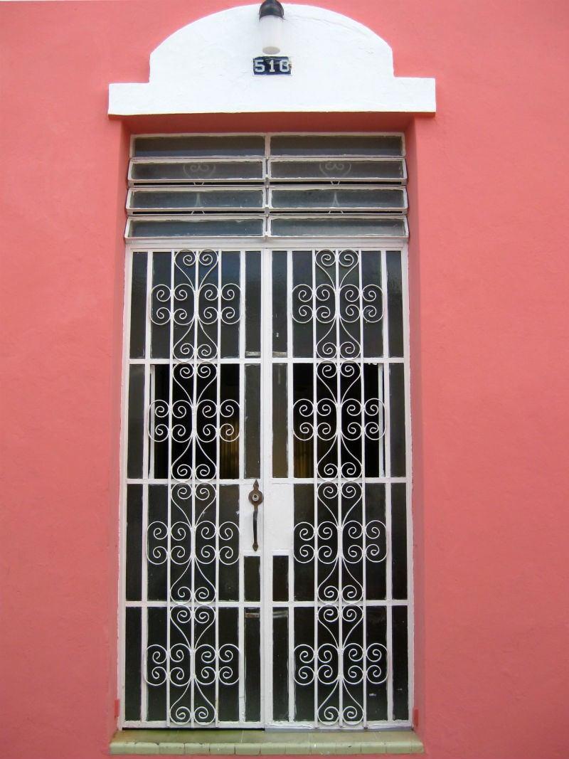 Merida Pink House Door
