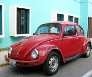 Merida Red VW Bug Blue House