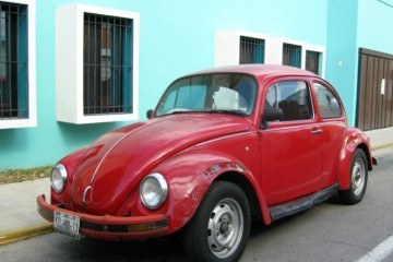 Merida Red VW Bug Blue House