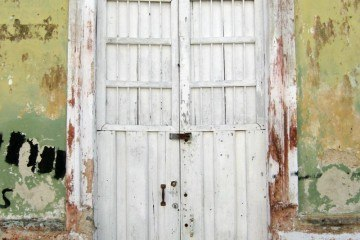 Merida White Weathered Door Mexico
