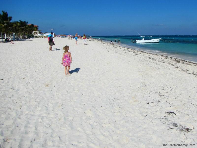 Walking along the Beach at Puerto Morales
