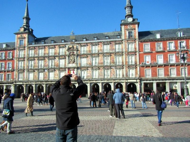Charles snapping Photo Plaza Major