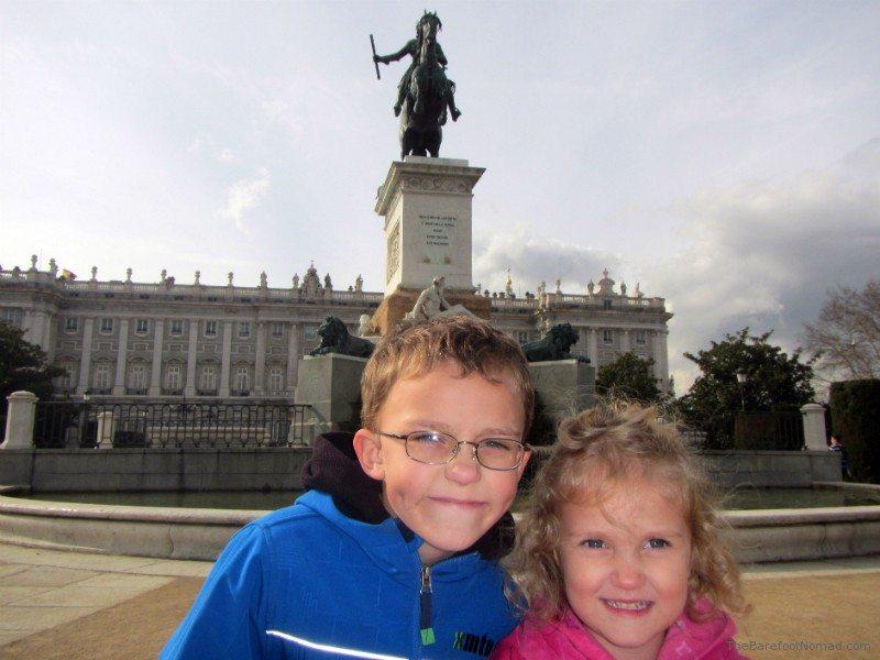 Kids Madrid Plaza de Oriente