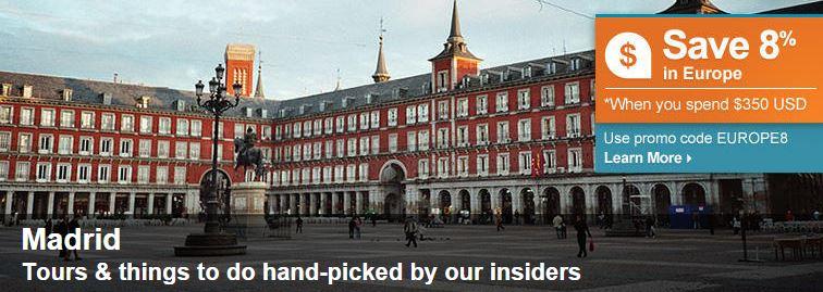 Madrid tours on viator
