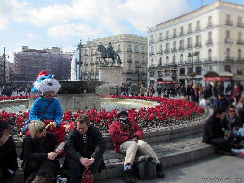 Papa Smurf in Plaza del Sol Madrid