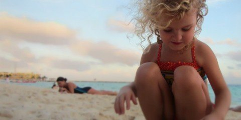 Playing on Mamitas Beach