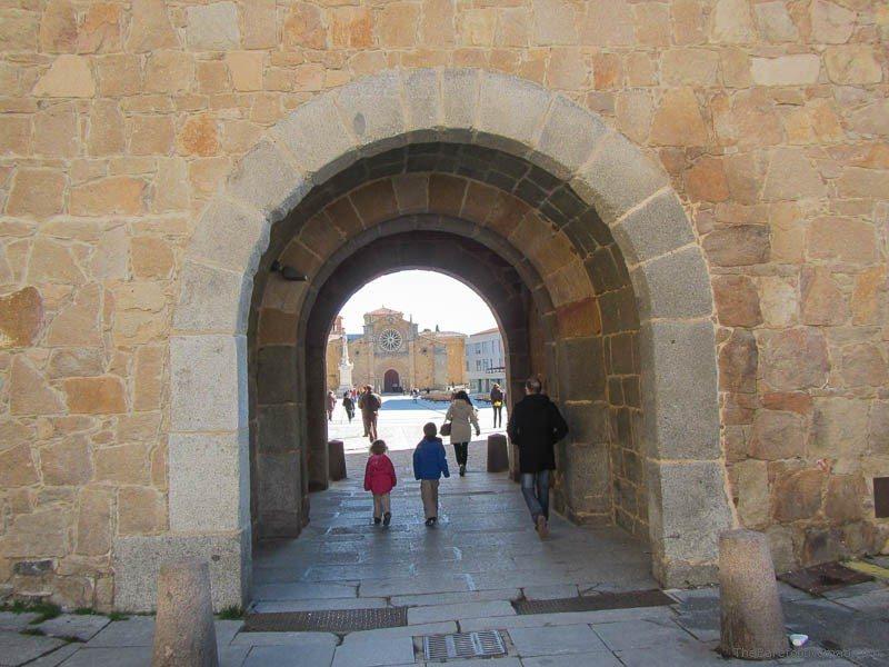 Archway to San Pedro, Avila, Spain