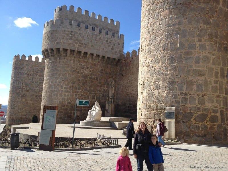 At the Walls of Avila, Spain