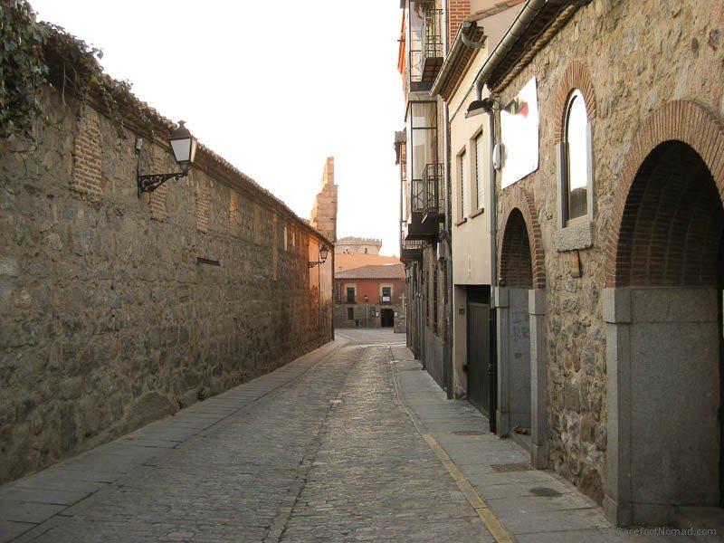 Backstreet of Avila, Spain