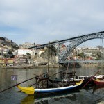 Boats on the Douro River Porto Portugal