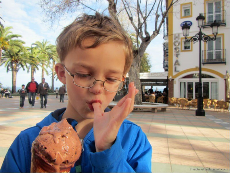 Chocolate Gelato Nerja Spain Balcon de Europe