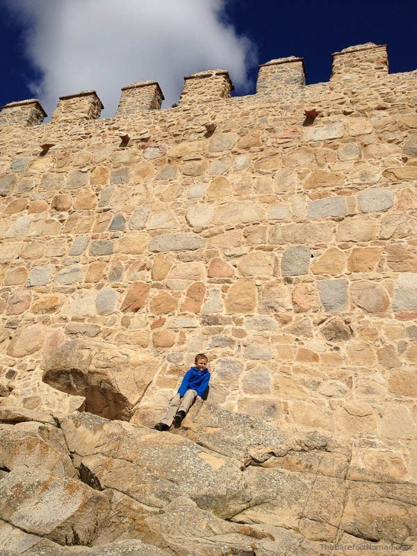 Cole Kosman climbing the walls in Avila, Spain