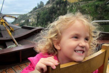 Smiling on the Douro River Cruise Porto Portugal