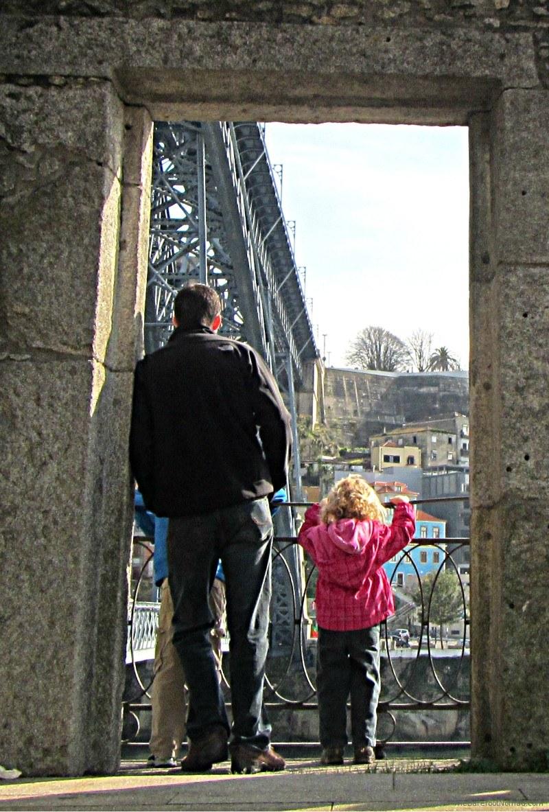 Overlooking the Dom Luis Bridge and the Douro River, Porto, Portugal