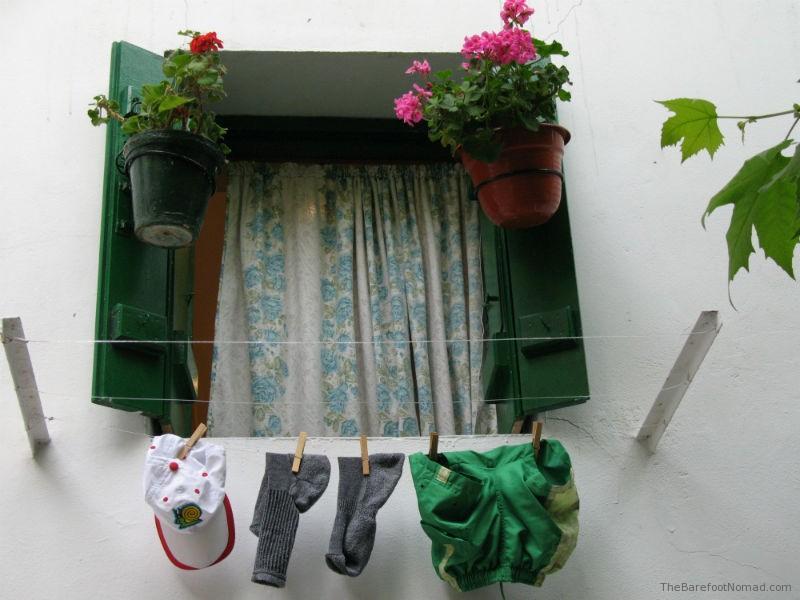 Laundry outside window Spain