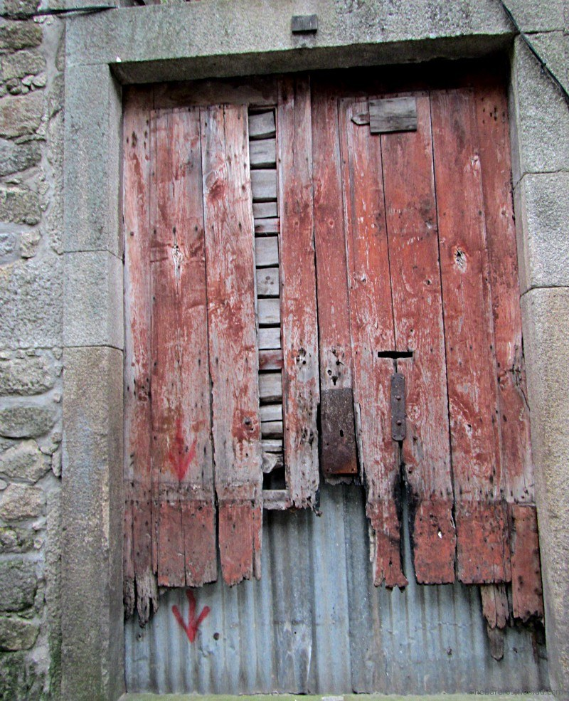 Porto Portugal Door to Abandoned Building