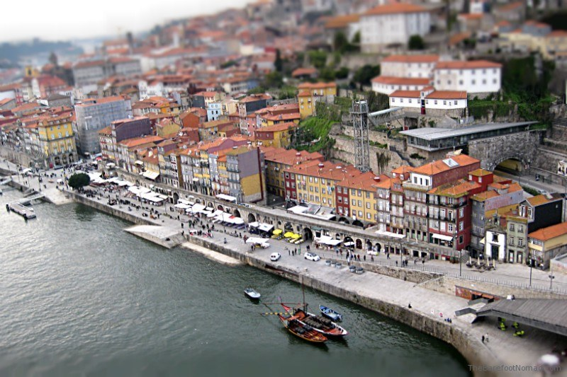 Porto's Ribeira district from the Dom Luis Bridge Portugal