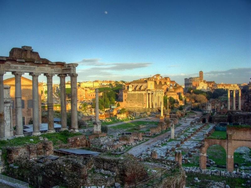 Rome Colesseum and Forum