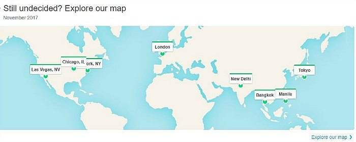 Skyscanner Explore our Map