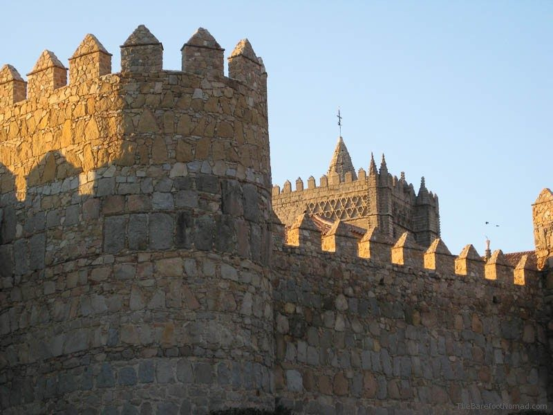 Turrets near the Cathedral of Avila, Spain