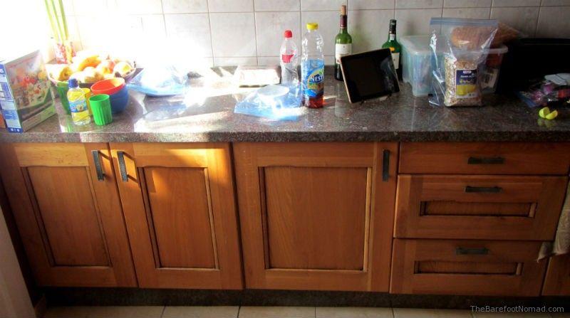 Kitchen fridge in Spain Europe