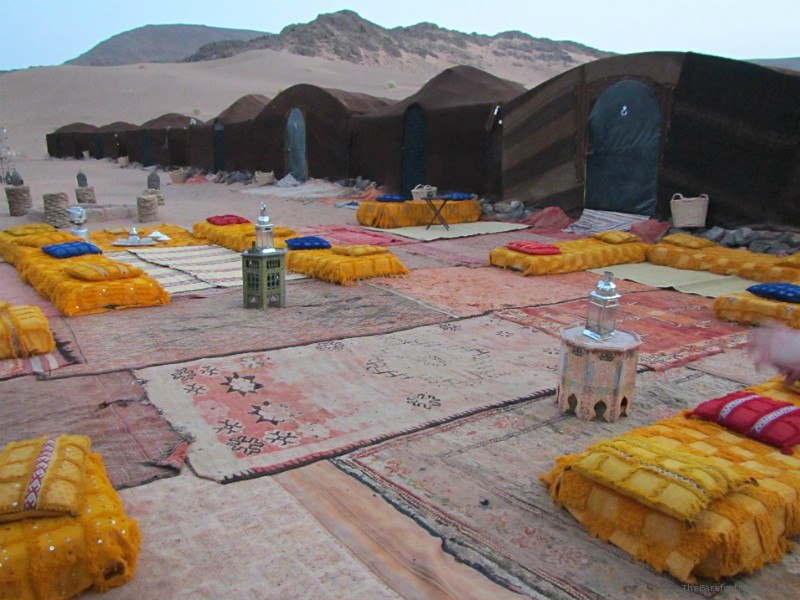 Bedouin overnight tent camp in Morocco
