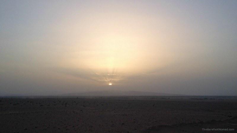 Sunset Moroccan Desert