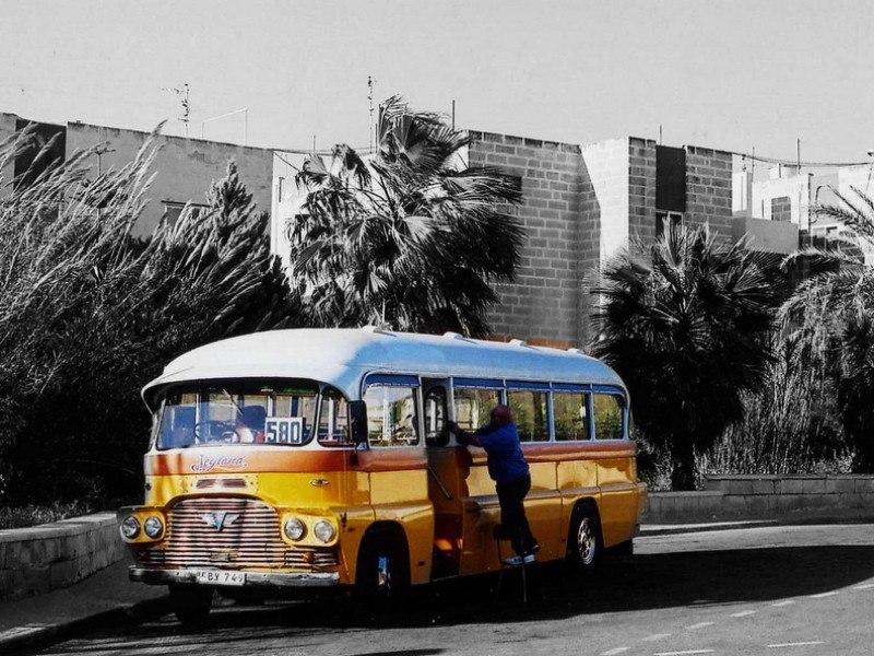 Bugibba bus. Photo by Pelix O.