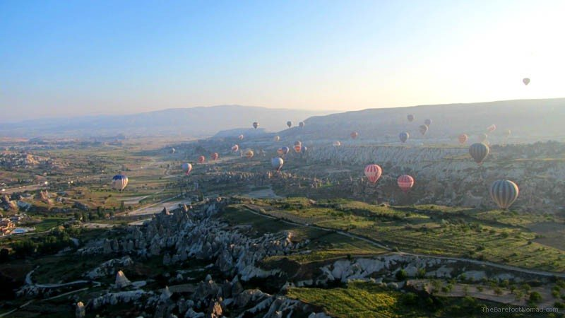 100s of Balloons over Goreme Turkey Cappadocia