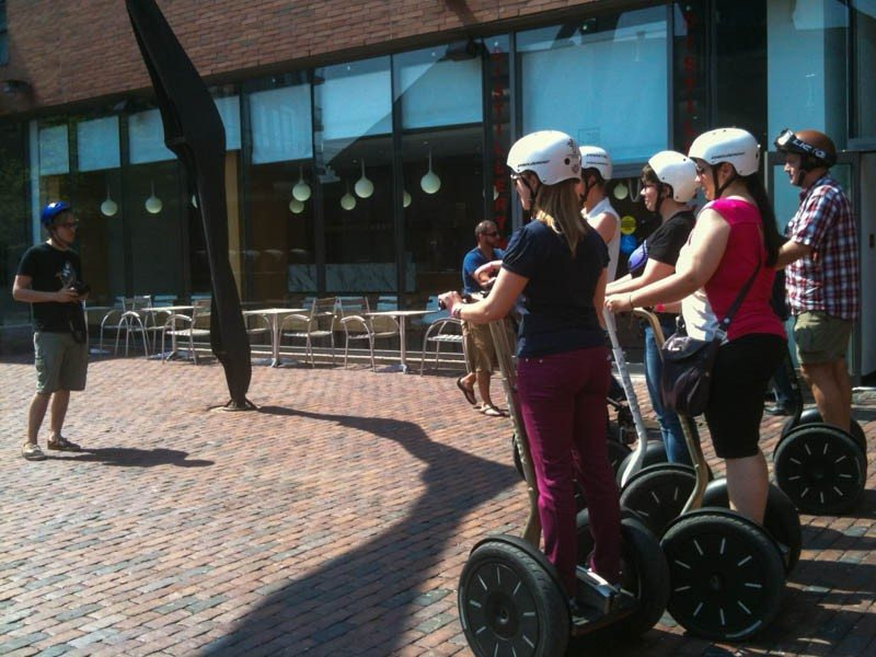 Danger travel bloggers on Segways