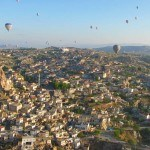 Goreme Town and Balloons Wide