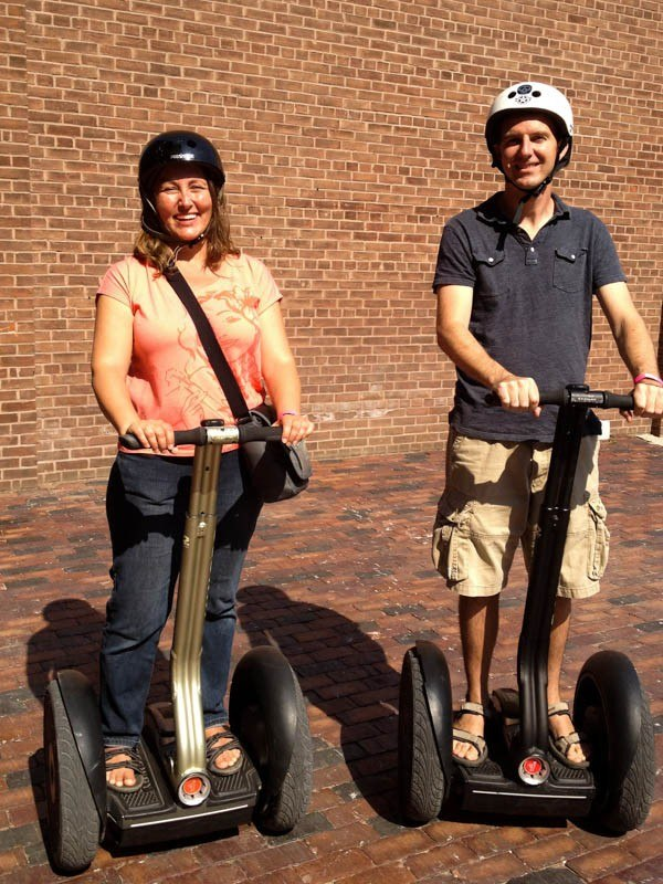 Charles and Micki on Segways