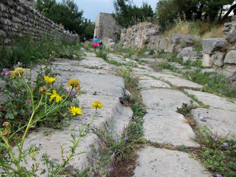 Walking along the Western Excavations Kos Greece