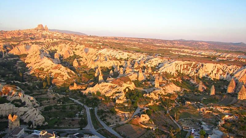 Goreme Turkey Hot Air Balloon Ride Wide View of the Fairy Chimmneys