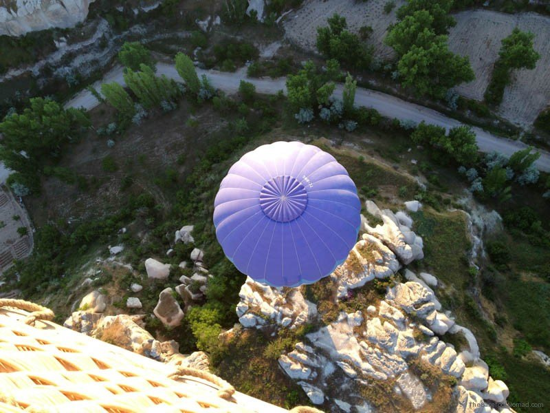 Butterfly Balloon from above