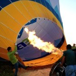 Firing burner to inflate the hot air balloon Cappadocia Turkey