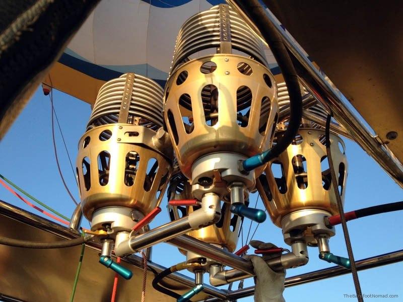 Hot air balloon burners turkey goreme