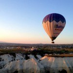 A Butterfly Balloon over the valley