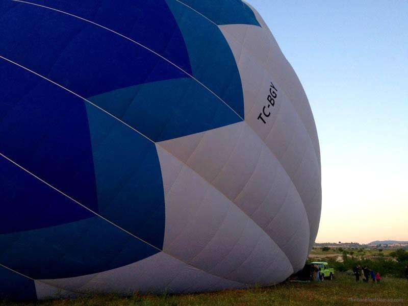 Hot air balloon dwarfs kids and truck Butterfly Balloons Goreme