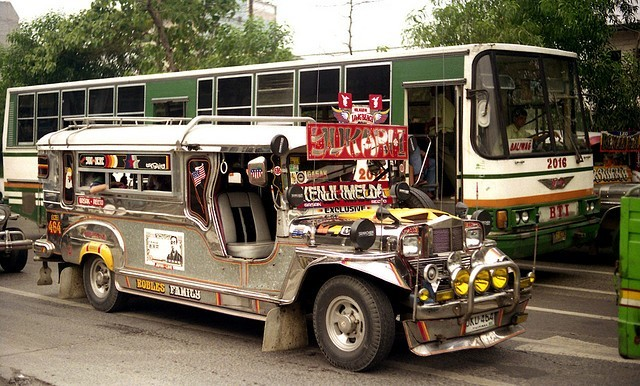 Jeepney in Manila by John Ward