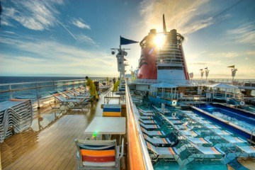 Cruise ship deck by Peter Dedina