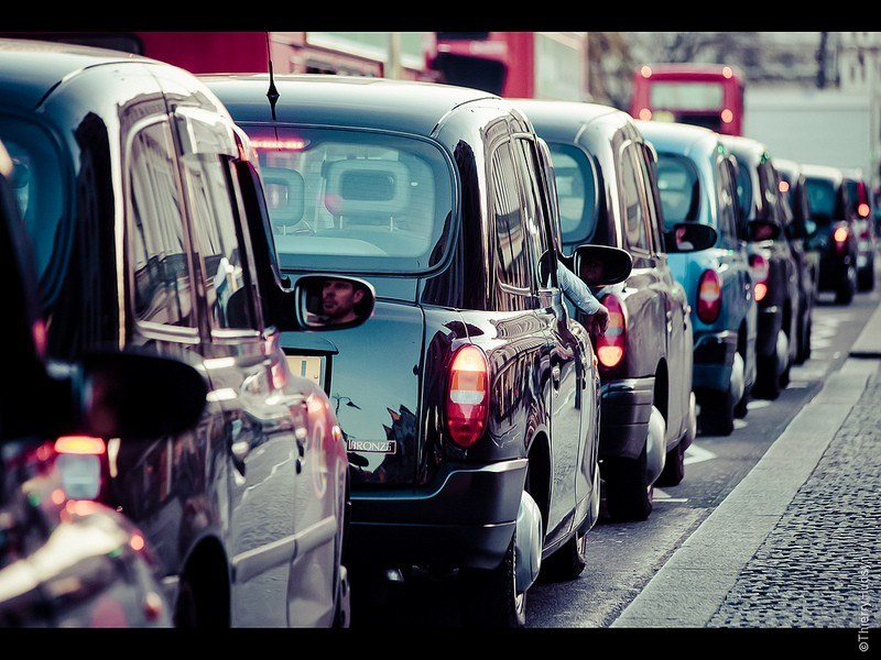 London taxis by Thierry Hudsyn
